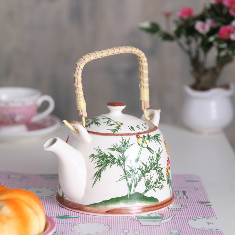 Multicolour Floral Ceramic Tea Pot