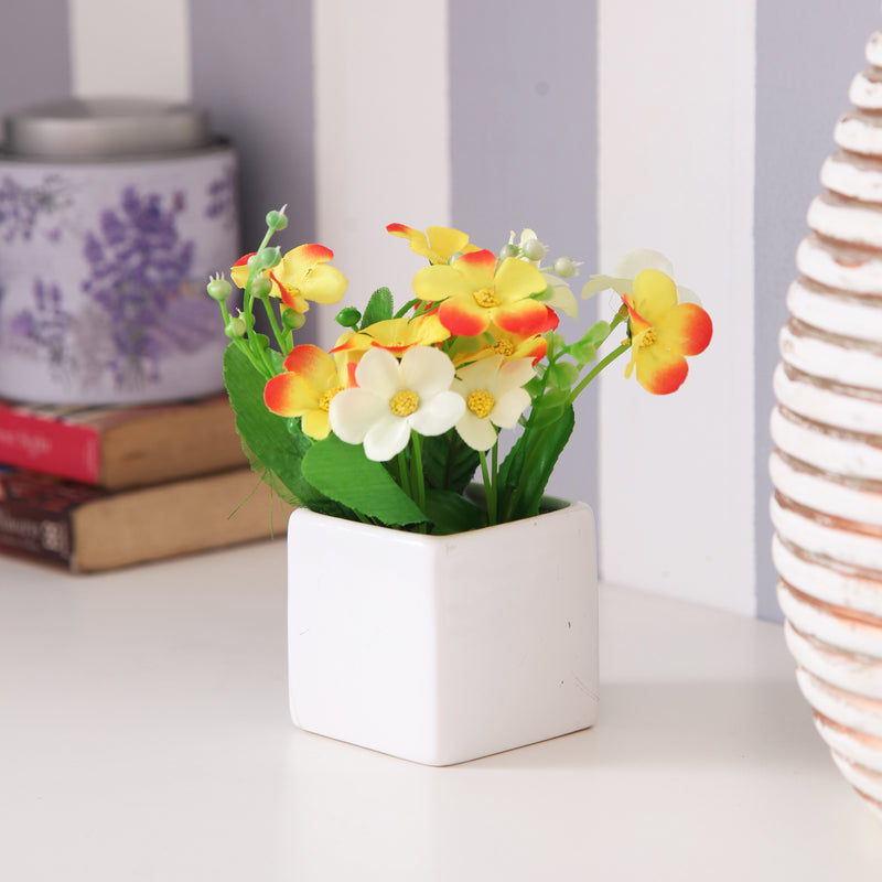 Cute White Flower Pot