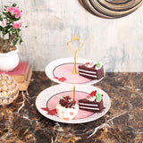 Pretty Red Bow 2-Tier Cake Stand