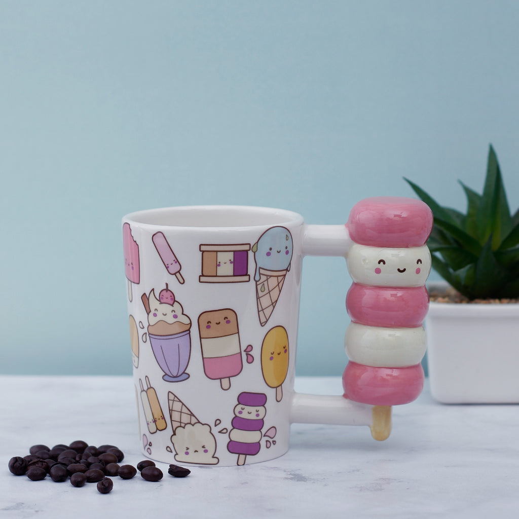 Happy Ice-Cream Handle Mug