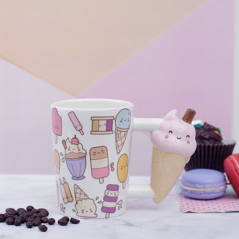 Ice-Cream Cone Handle Mug