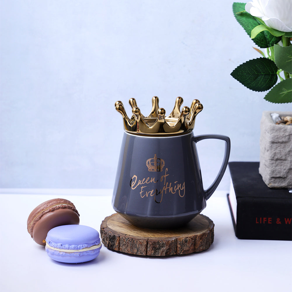 Queen of Everything Mug - Grey