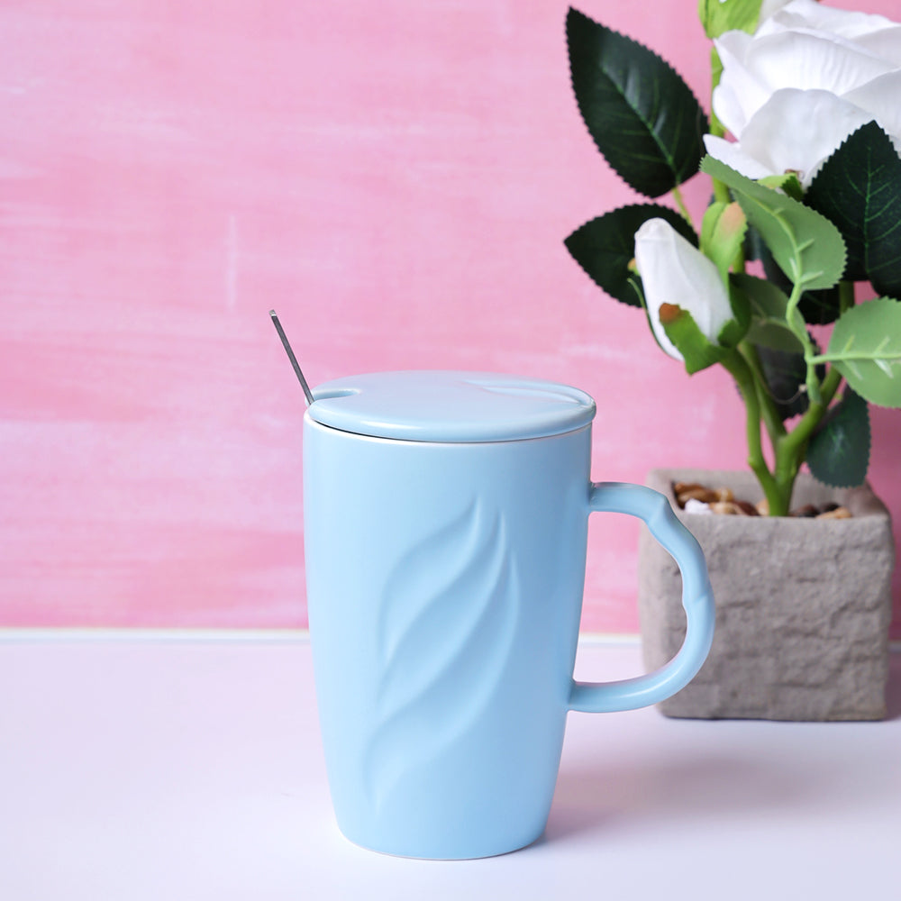 Tall Pastel Coffee Mug - Sky Blue