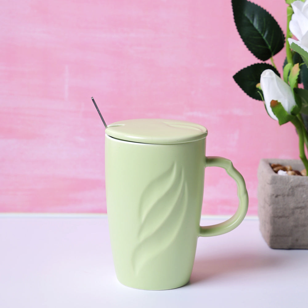 Tall Pastel Coffee Mug - Green