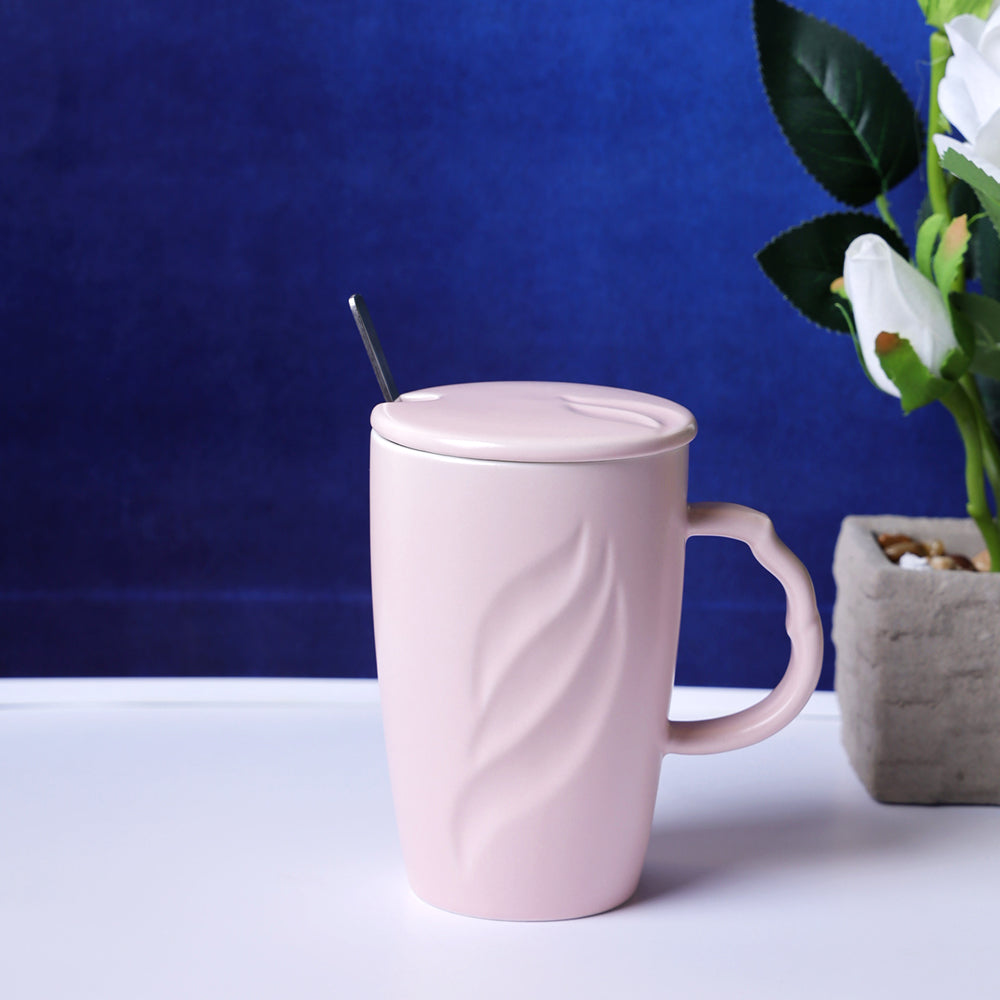 Tall Pastel Coffee Mug - Pink
