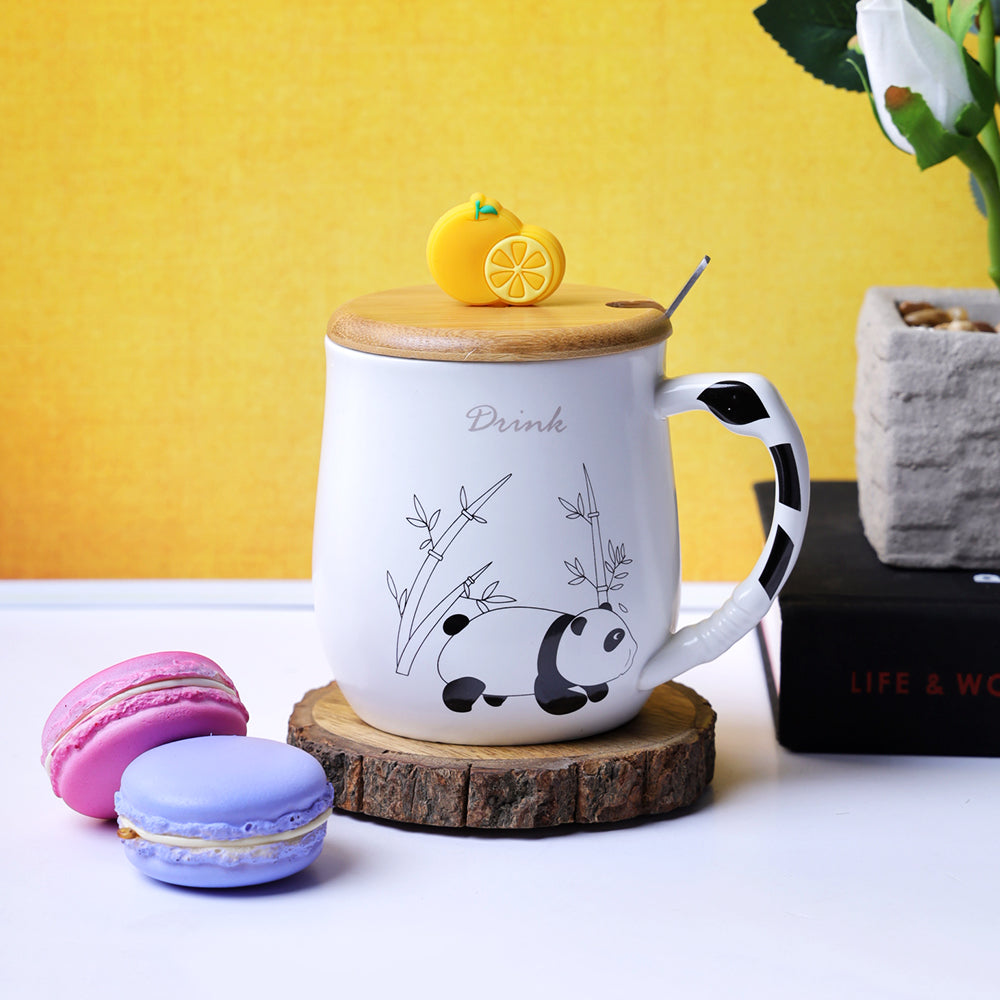 Orange Slice Lid Mug - Panda