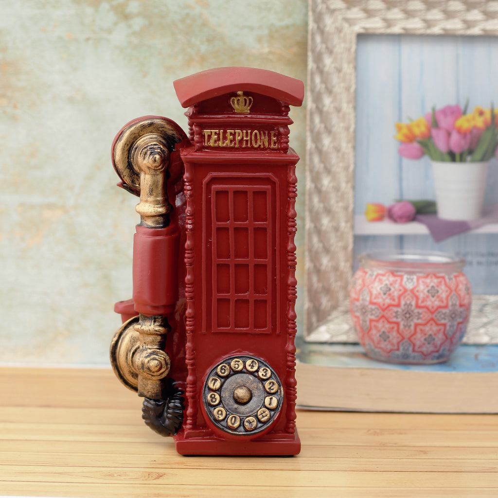 Vintage Phonebooth Decorative Accent