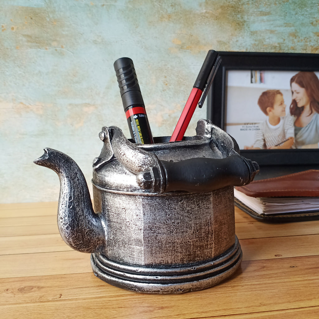 Vintage Kettle Accent-Desk Organizer