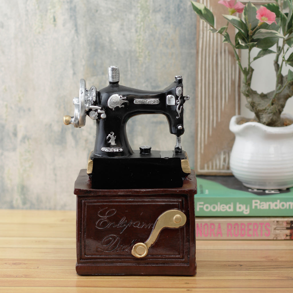 Large Vintage Sewing Machine Accent/Desk Organizer