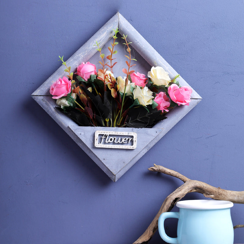 Victoria Wall Hanging Flower Frame - Grey