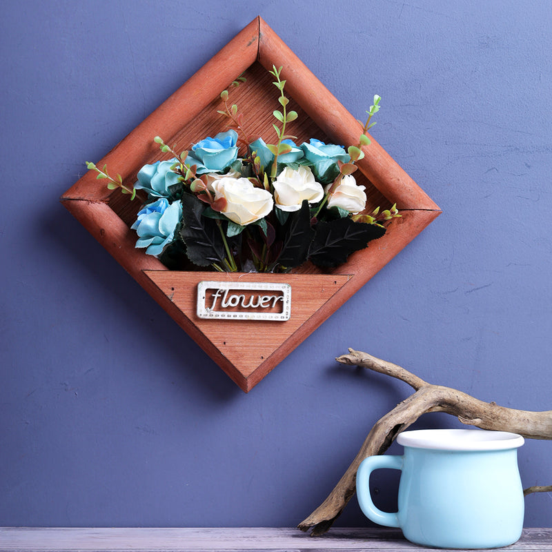 Victoria Wall Hanging Flower Frame - Brown