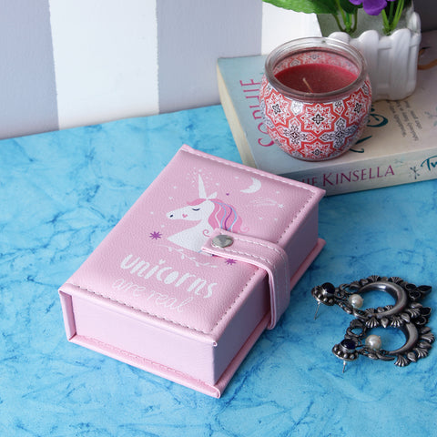Rectangle Unicorn Jewellery/Trinket Box - Pink