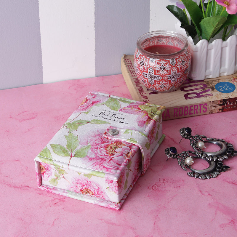 Rectangle Rose Jewellery/Trinket Pouch Box