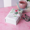 Rectangle White Love Jewellery/Trinket Pouch Box