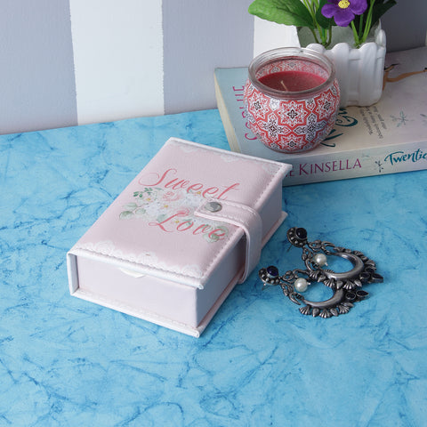 Rectangle Sweet Love Jewellery/Trinket Pouch Box