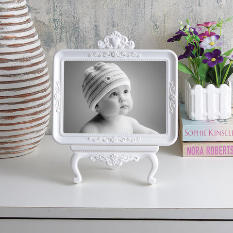 Classic Vintage Tabletop Photo Frame - White
