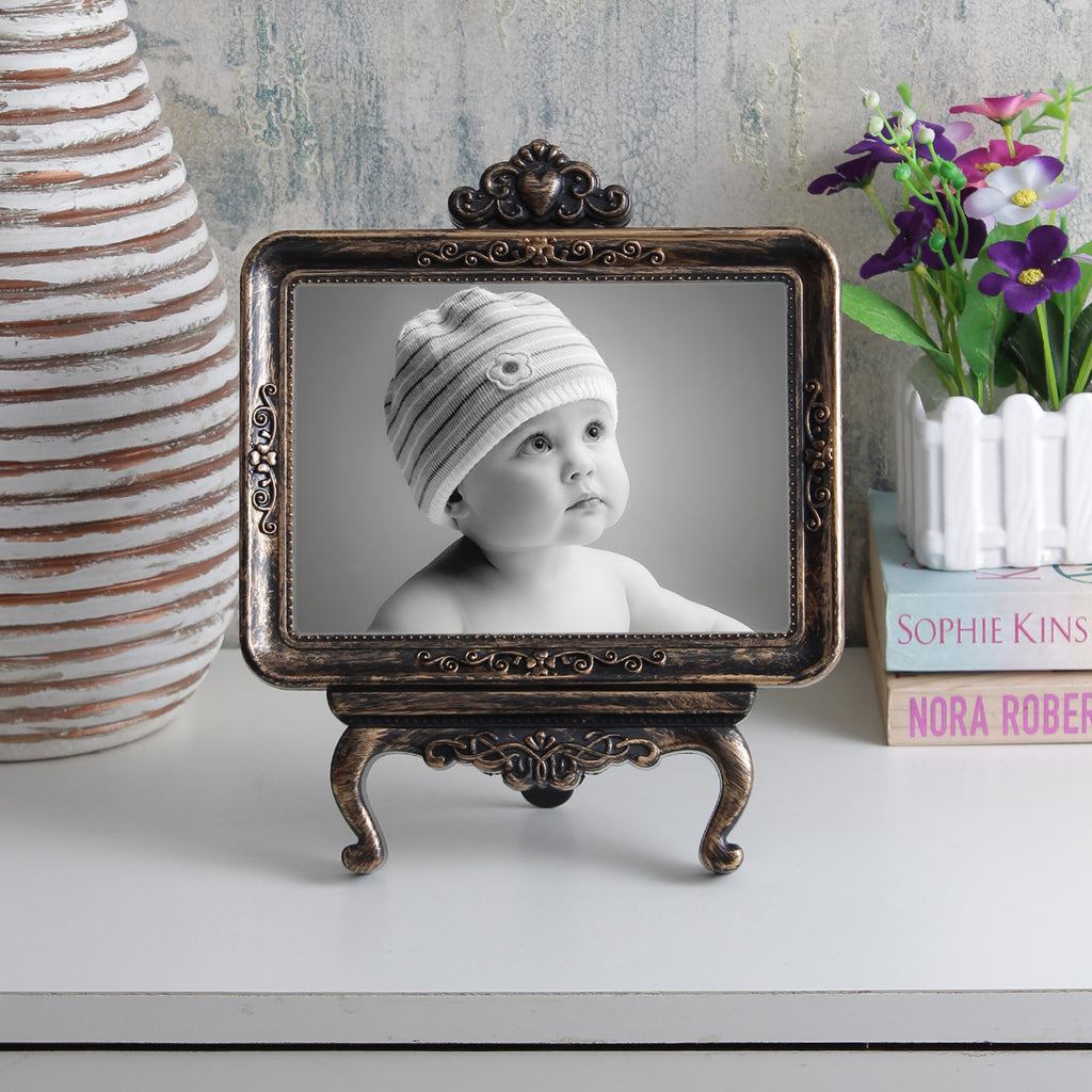 Classic Vintage Tabletop Photo Frame - Copper