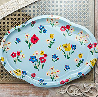 Floral Metal Trays