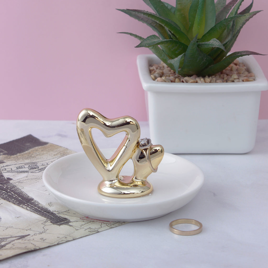 Golden Hearts Trinket Dish