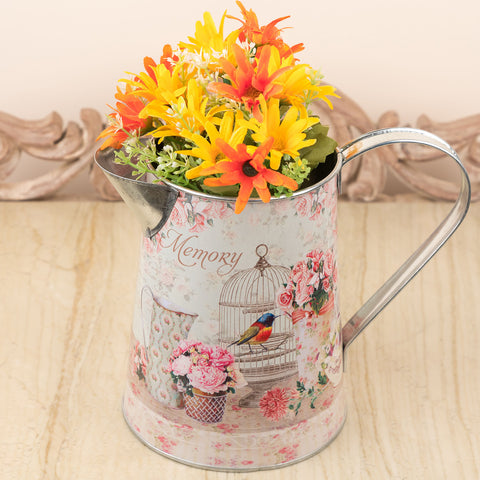 Cupcake Design Metal Flower Vase/Watering Can