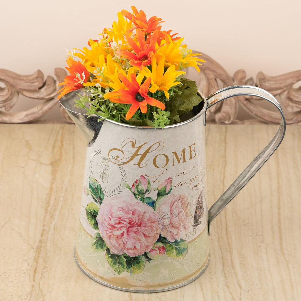 Floral Design Metal Flower Vase/Watering Can