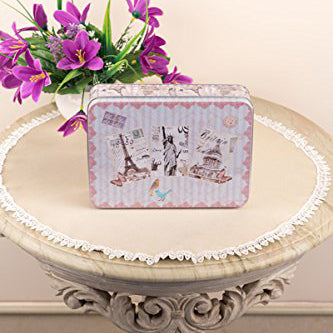 Pink Paris Storage Metal Tin