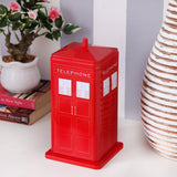 Red London Telephone storage metal tin