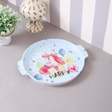 Round Happy Unicorn Metal Tin Tray