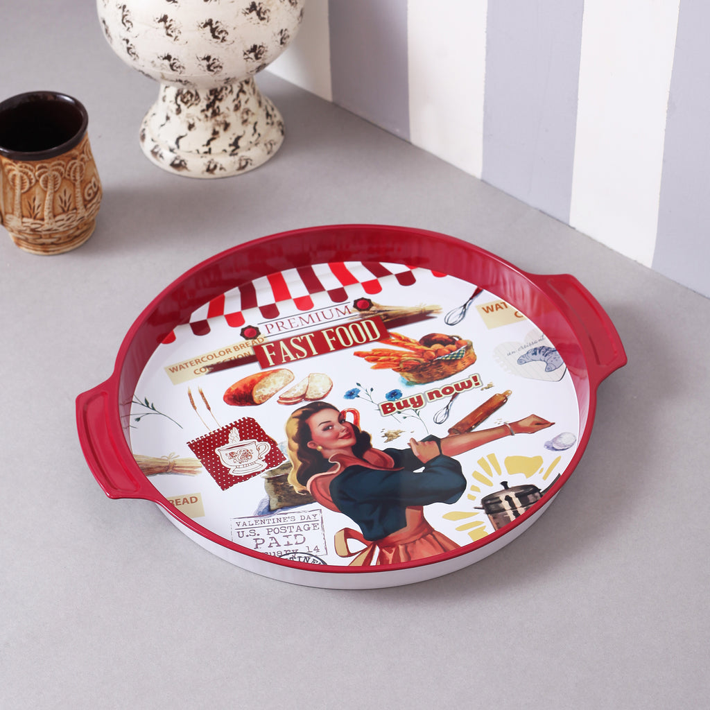 Bread Vintage Metal Tin Tray