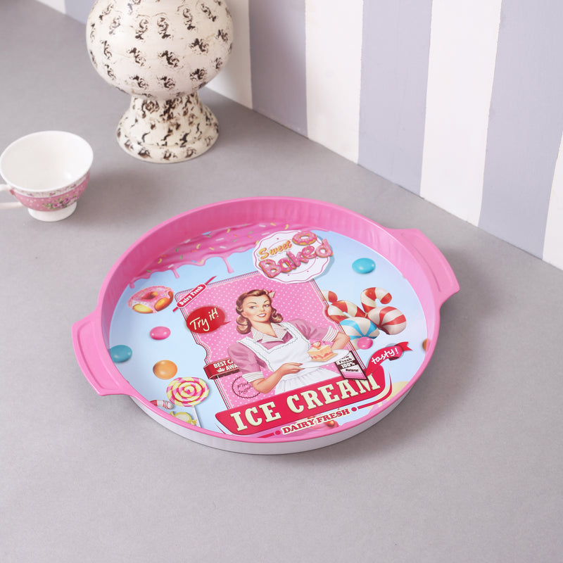 Vintage Ice-Cream Metal Tin Tray