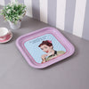 French Lady Metal Tin Serving Tray