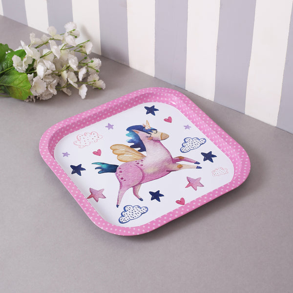 Star Unicorn Metal Tin Tray
