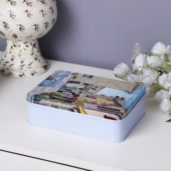 Scenic Multipurpose Storage Metal Tin Box