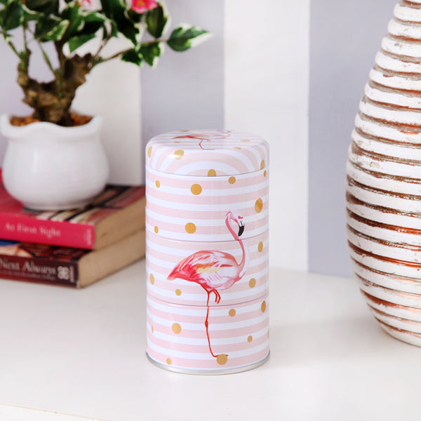 White Flamingo Trinket Storage Organizer