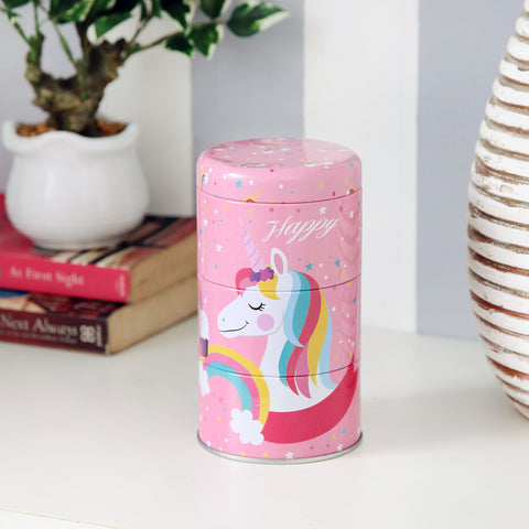 Pink Rainbow Unicorn Trinket Storage Organizer
