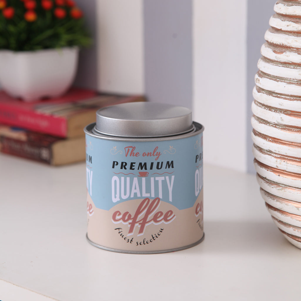 Round Quality Coffee Small Metal Tin Canister