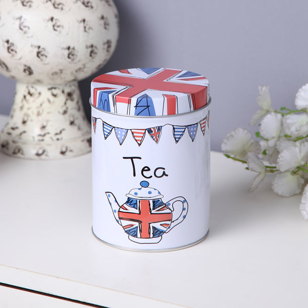 British Tea metal tin canister