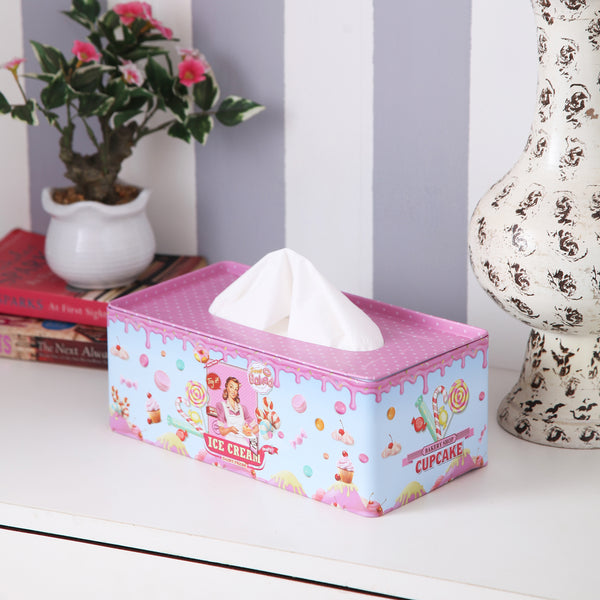 Rectangle Vintage Ice-Cream Tissue Box