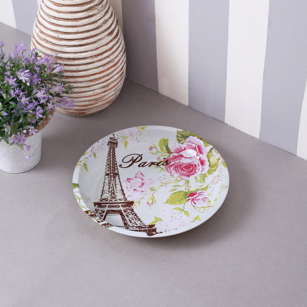 Vintage Paris Round Serving Platter
