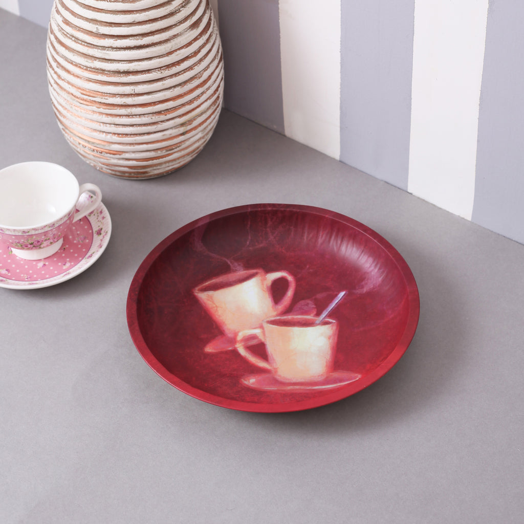 Coffee Round Serving Platter