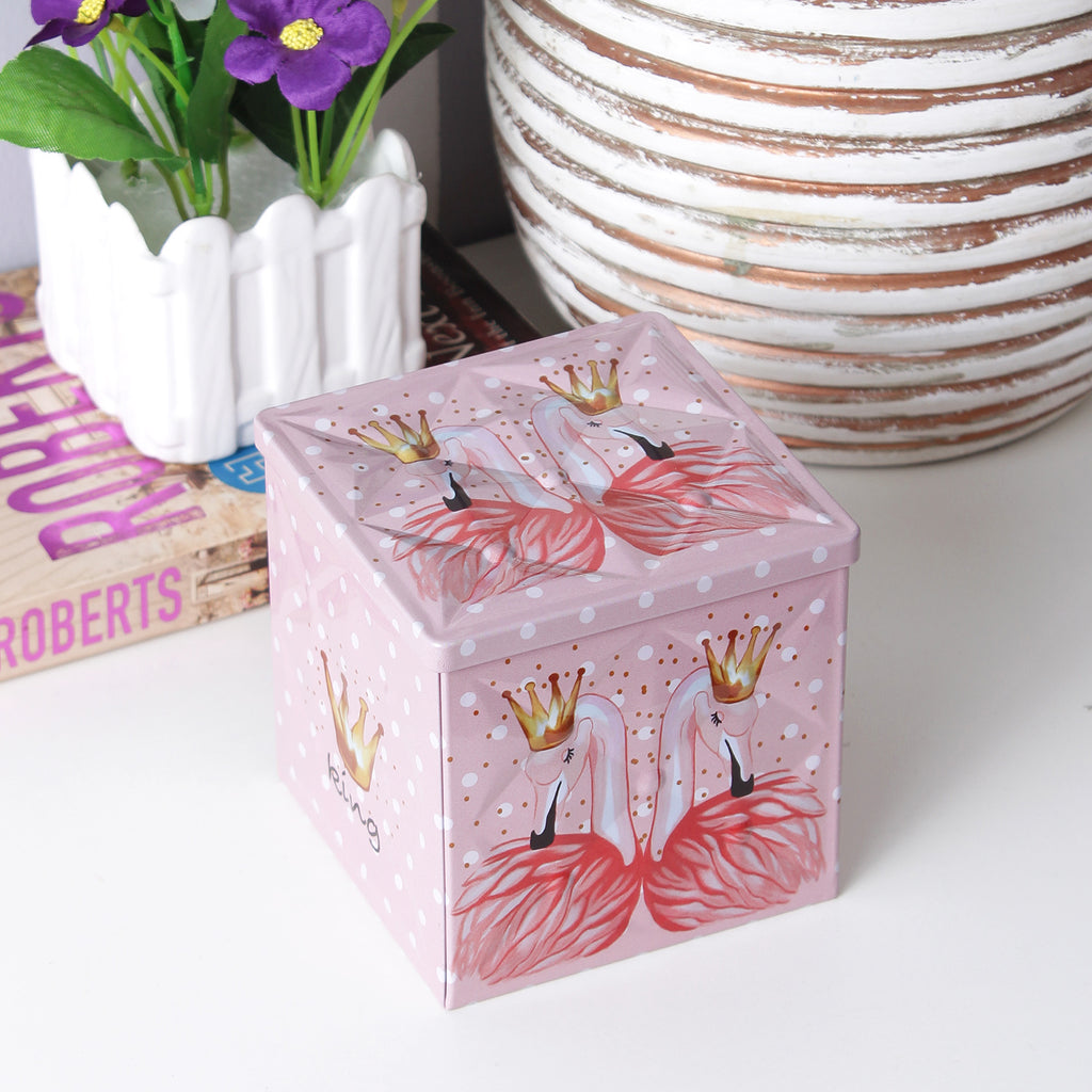King Flamingo Trinket/Condiment Storage Box