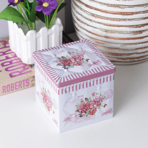 Vintage Floral Trinket/Condiment Storage Box