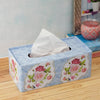 Blue Vintage Floral Tissue Box
