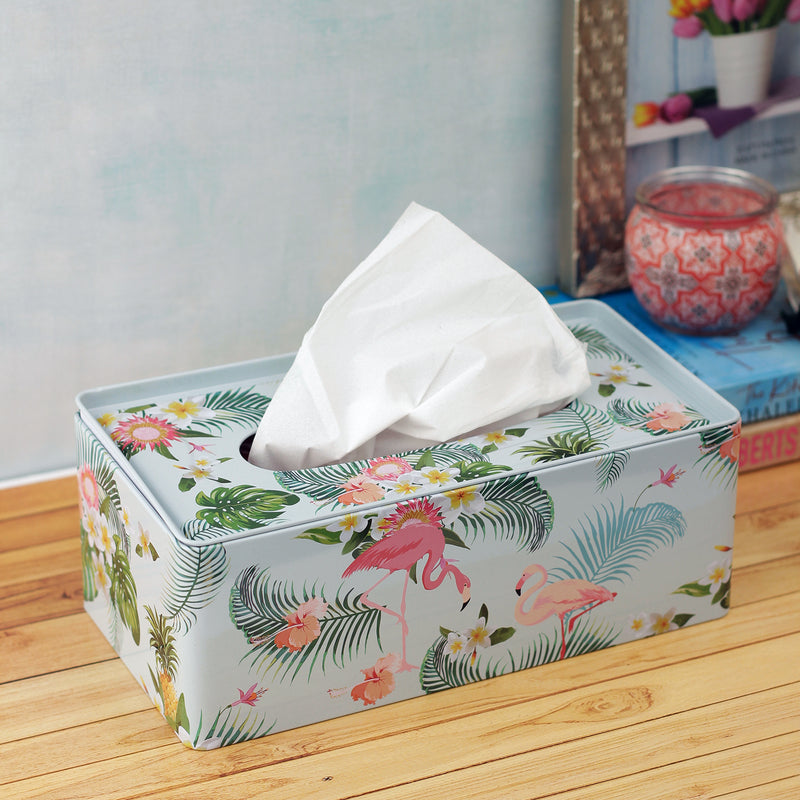 Forest Flamingo Tissue Box - Rectangle