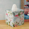 Forest Flamingo Tissue Box - Square