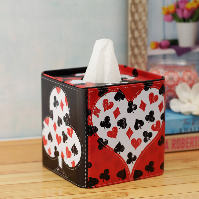 Poker Party Tissue Box - Square