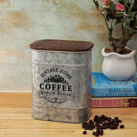 Vintage Home Coffee Storage Metal Box