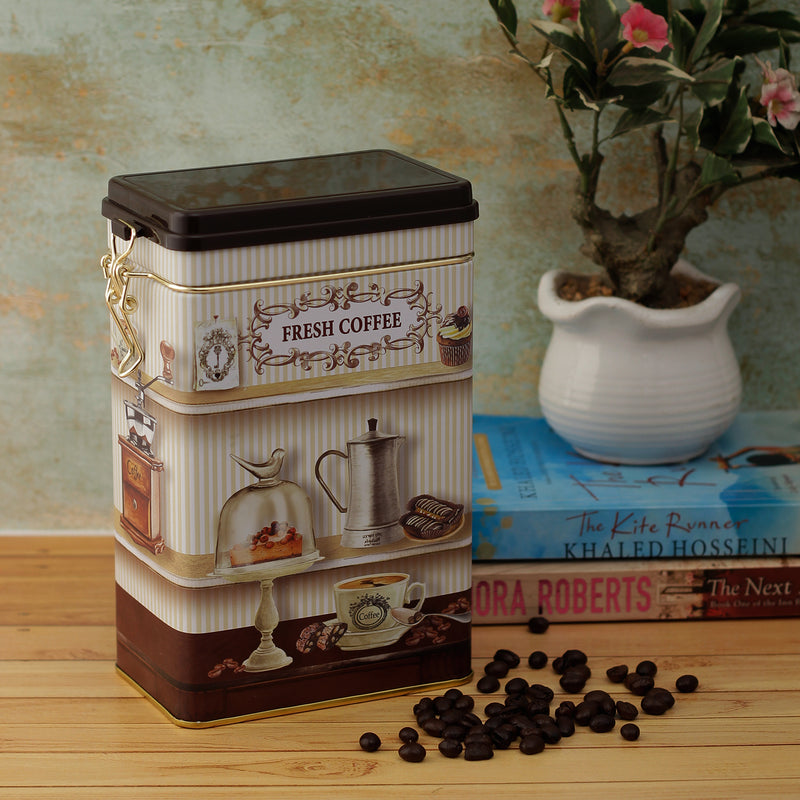 Fresh Coffee Storage Box with Hinged Lid