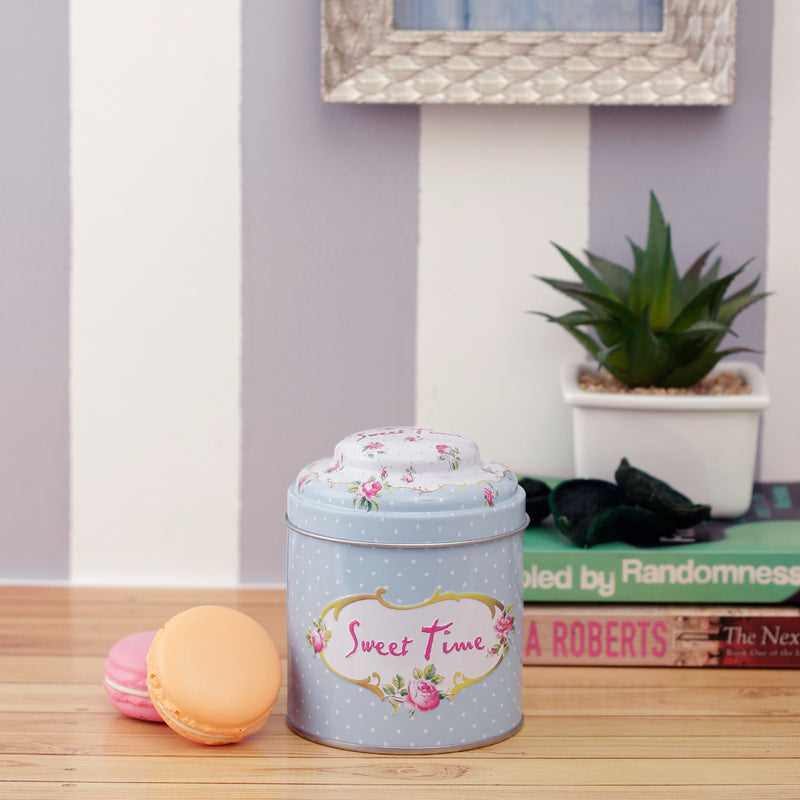 Sweet Time Metal Tin Canister