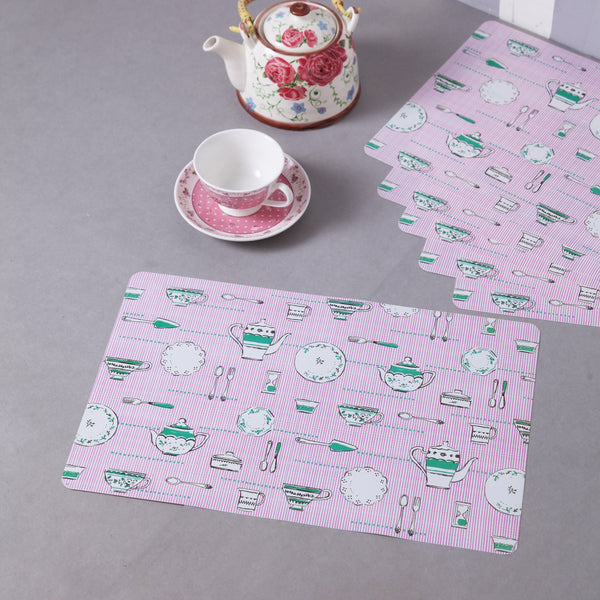 Cute Cups And Saucers Table Mats (Set Of 6)